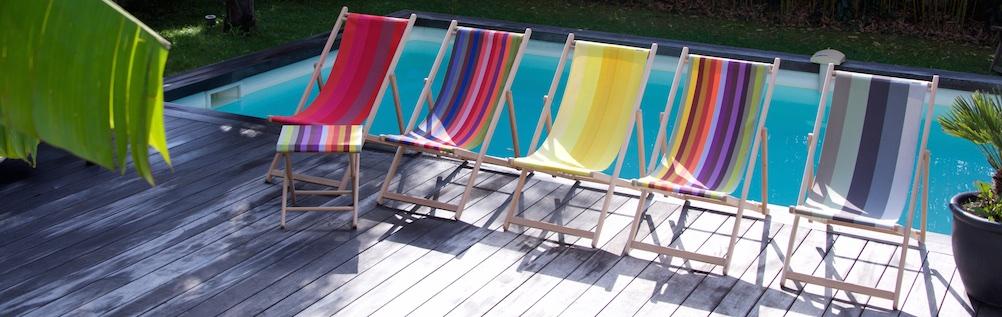 Relaxen in een opklapbare strandstoel in je tuin of balkon